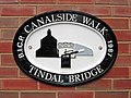 Canalside Plaque, Birmingham and Fazeley Canal - geograph.org.uk - 662889.jpg