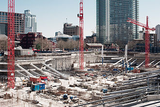 Riverside South (Canary Wharf) - Construction as of March 2010