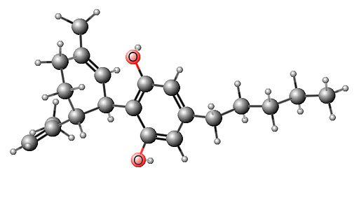 Cannabidiol (CBD) molecule 3D