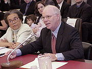 Cardin testifying before the U.S. House Ways and Means subcommittee on Human Resources.