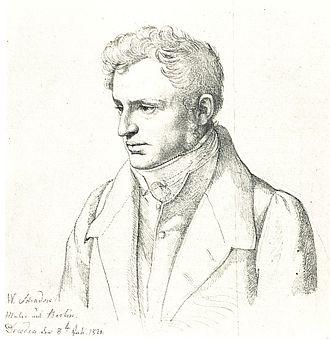 Friedrich Wilhelm Schadow - Friedrich Wilhelm Schadow by Carl Christian Vogel von Vogelstein (1821)