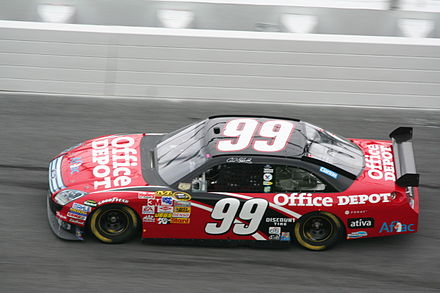 2008 Cup racecar Carl Edwards 2008 Office Depot Ford Fusion.jpg