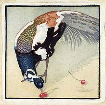 Carl Moser Pfau mit drei Kirschen.jpg