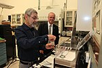 Carlos Calle demonstrating Electrodynamic Dust Shield to the NASA Chief Technologist.jpg
