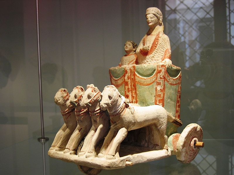 Parade flyta med två tecken, det andra kvartalet i det femte århundradet.  BC kalksten polykrom Amathous (Cyprus) .JPG