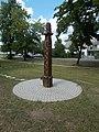 Carved wood column, Árpád Street, 2017 Tatabánya.jpg