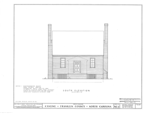 Cascine, State Route 1702, Louisburg, Franklin County, NC HABS NC,35-LOUBU.V,1- (sheet 4 of 12).png