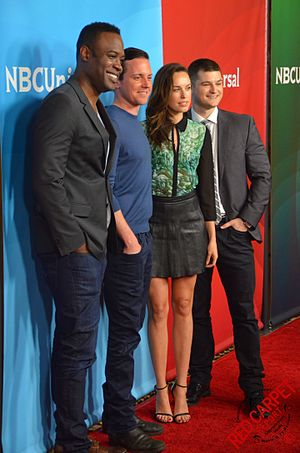 Kevin Daniels - Kevin Daniels, with Sirens Co-Stars Michael Mosley, Jessica McNamee and Kevin Bigley at the 2015 Television Critics Association's Press Tour