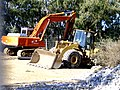 Caterpillar 966G loader and Hitachi EX350LCH excavator.jpg