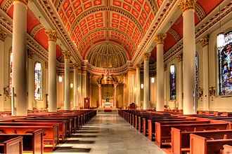 Cathedral Basilica of the Immaculate Conception (Mobile, Alabama) - The interior in 2009