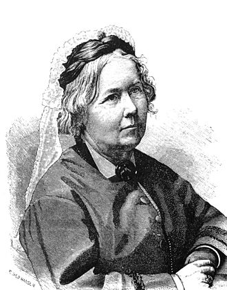 Cecilia Fryxell -  Cecilia Fryxell during her time as Principal at her school at Rostad, Kalmar, (portraite by wood engraver Evald Hansen)