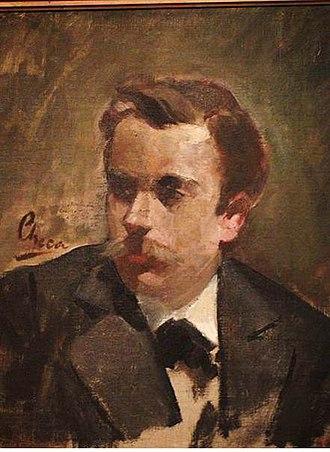 Cecilio Plá - Cecilio Plá; portrait by  Ulpiano Checa (1885)