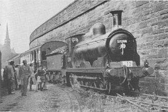 Paisley East railway station - ex-Caledonian Railway 0-6-0 No. 57266 at Paisley East Mineral Depot
