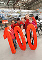 Celebrating our 100 aircraft milestone (8647057953).jpg