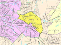 Census Bureau map of Berlin Township, New Jersey