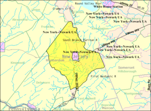 Raritan Township, New Jersey - Image: Census Bureau map of Raritan Township, New Jersey