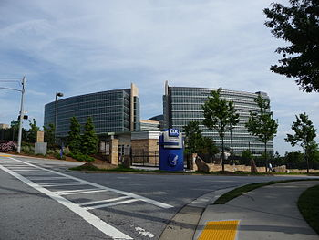 Entrance to the headquarters of the Centers for Disease Control