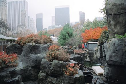 The Temperate Zone, one of the three major exhibit areas at Central Park Zoo Central Park Zoo.jpg