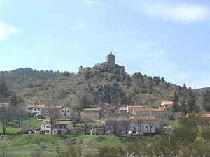 Luc, Lozère - The village of Luc, and the chateau