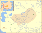 Chagatai Khanate late 13th century locator map.svg