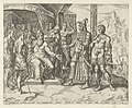 Chamor en Sichem vragen Jakob om Dina's hand Geschiedenis van Dina en Sichem (serietitel), RP-P-1904-3330.jpg