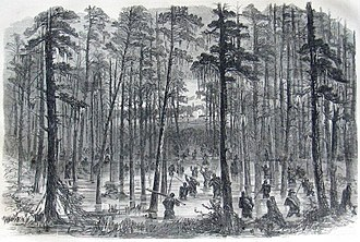 Battle of Rivers' Bridge - Charge of Weaver's Brigade Across the Salkehatchie
