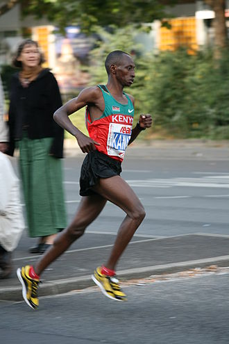Charles Kamathi - Charles Kamathi at the Berlin Marathon in 2008