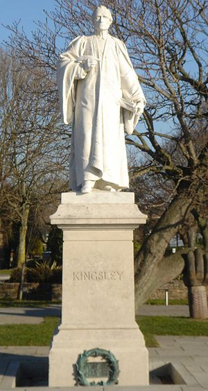 Charles Kingsley - A statue of Charles Kingsley at Bideford, Devon (UK)