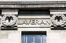 Charles Louis Alphonse Laveran's name on the LSHTM Frieze