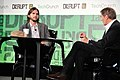 Charlie Rose and Ashton Kutcher during TechCrunch Disrupt New York May 2011, 5.jpg