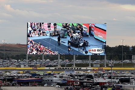 Charlotte Motor Speedway's high definition video screen in 2013. Charlotte Motor Speedway video screen.jpg