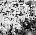 Cheerful British soldiers on board a troopship arriving at Singapore, October 1941. FE97.jpg