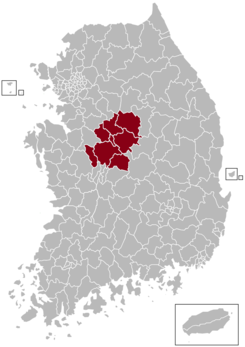Cheongju Postal central office precinct map.png