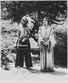 Cherokee boy and girl in costume on reservation, North Carolina, 06-1939 - NARA - 513344.tif