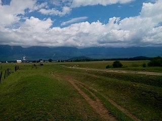 Tunkin Depression Valley in Republic of Buryatia, Russia
