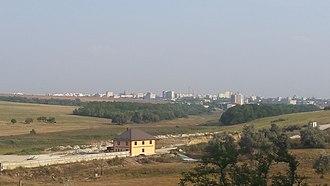 Grătiești - Image: Chișinăul văzut dinspre Grătiești