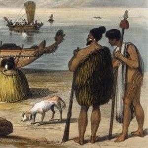 Kurī - Image: Chiefs With Kuri 1828