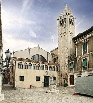 San Samuele, Venice - San Samuele facade church and belltower