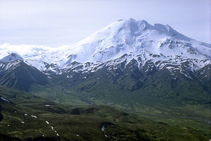 Alaska Peninsula National Wildlife Refuge - View of the Mount Chiginagak