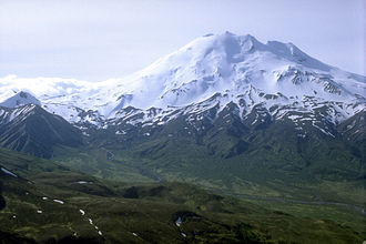 Alaska Peninsula National Wildlife Refuge - View of the Mount Chiginagak