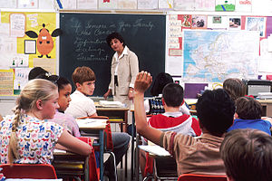 Educational inequality - Children in a classroom in the United States