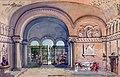 Chiostro del Convento (Cappella dei Capuleti), bozzetto di Armando Coli per Giulietta e Romeo (s.d.) - Archivio Storico Ricordi ICON009597.jpg