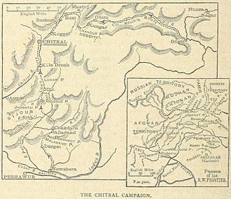 Chitral Expedition - The routes of the British relief expeditions