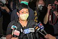 Choy Yuk Ling released from Tai Po Police Station and see the press 20201103.jpg