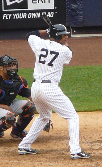Chris Dickerson (baseball) - Dickerson batting for the New York Yankees in 2011