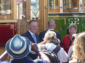 Lianne Dalziel - Launch of a tramway extension on 12 February 2015 by Prime Minister John Key and Dalziel