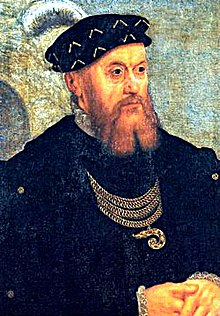King Christian III of Denmark and Norway died on New Year's Day, January 1, 1559 Christian III of Denmark.jpg