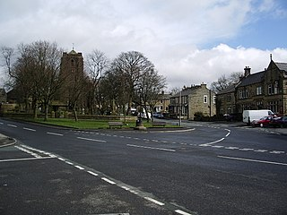 Worsthorne village in United Kingdom