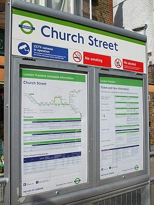 Church Street tram stop - Church Street