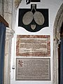 Church of St John, Finchingfield Essex England - North chapel Ruggles Brise memorials 1.jpg